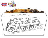 Dibujo de Dr Oetker Junior Chef Molde tren para colorear