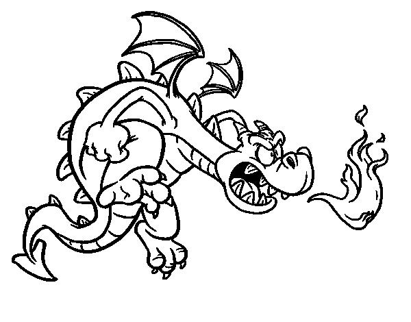 Dibujo de Dragón malvado para Colorear - Dibujos.net