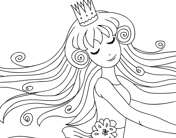 Dibujo De Dulce Princesa Para Colorear Dibujosnet