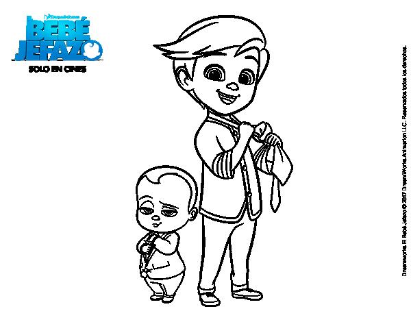 Dibujo de El Bebé Jefazo y Tim Templeton para Colorear - Dibujos.net