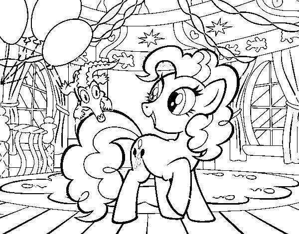 Dibujo de El cumpleaños de Pinkie Pie para Colorear - Dibujos.net