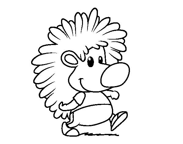 Dibujo De El Erizo Para Colorear Dibujosnet