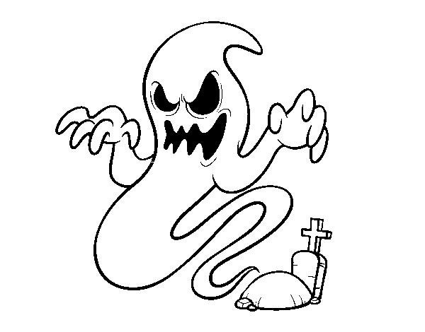 Dibujo de El fantasma de la tumba para Colorear   Dibujos.net