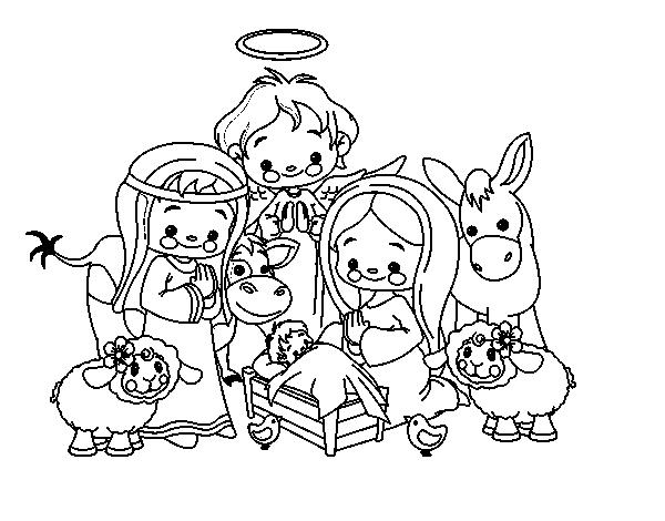 Dibujo de El nacimiento para Colorear - Dibujos.net