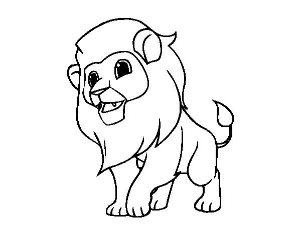 Dibujo de El rey de la selva para Colorear - Dibujos.net