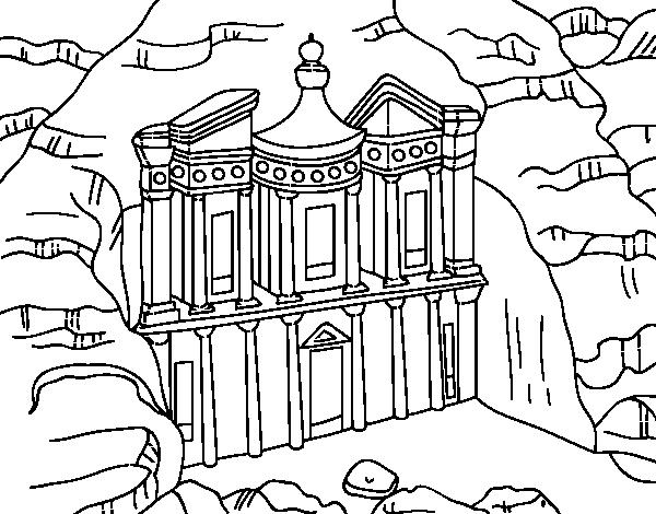 Dibujo de El tesoro de Petra para Colorear - Dibujos.net