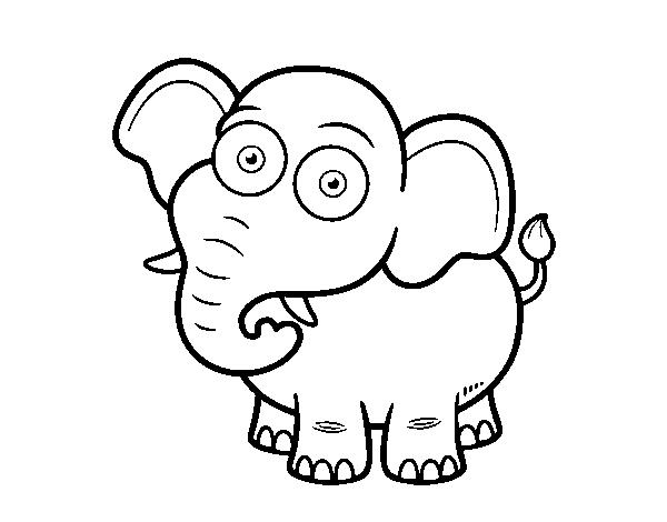 Dibujo De Elefante Africano De Sabana Para Colorear Dibujosnet