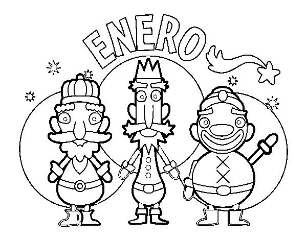 Dibujo De Enero Para Colorear Dibujosnet