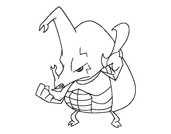 Dibujo de Escarabajo rinoceronte enfadado para Colorear - Dibujos.net
