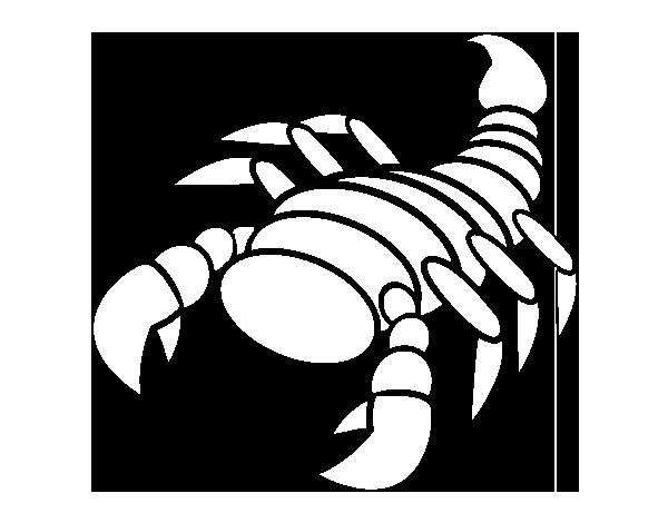 Dibujo De Escorpión Feliz Para Colorear Dibujosnet
