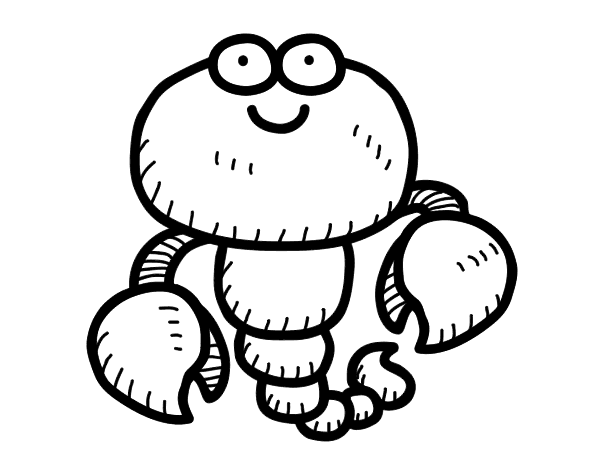 Dibujo De Escorpión Joven Para Colorear Dibujosnet