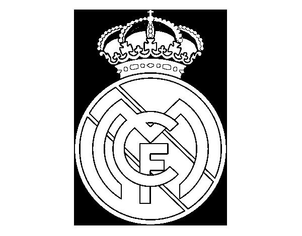 Dibujo de escudo del real madrid cf para colorear dibujos altavistaventures Choice Image