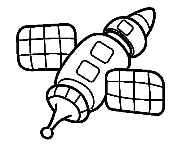 Dibujo de Estación espacial para Colorear - Dibujos.net