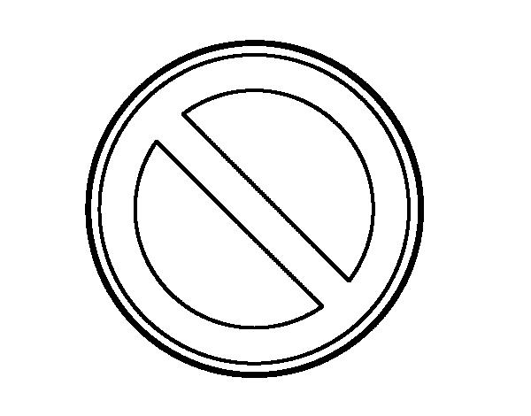 Dibujo de Estacionamiento prohibido para Colorear - Dibujos.net