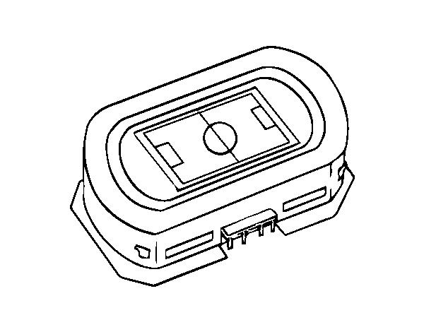 Dibujo de Estadio de fútbol para Colorear - Dibujos.net