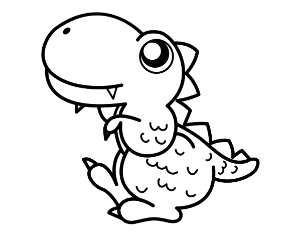 Dibujo de Estegosaurio de perfil para Colorear - Dibujos.net