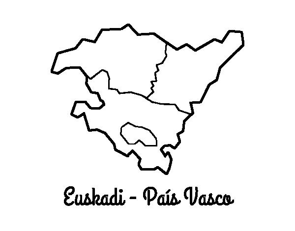 Dibujo de Euskadi - País Vasco para Colorear - Dibujos.net