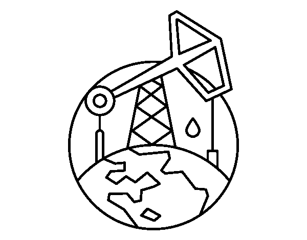 Dibujo de Extractor de petróleo para Colorear - Dibujos.net