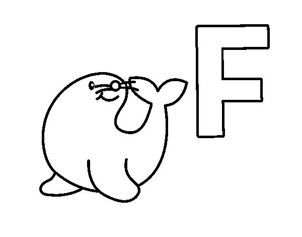 Dibujo de F de Foca para Colorear - Dibujos.net
