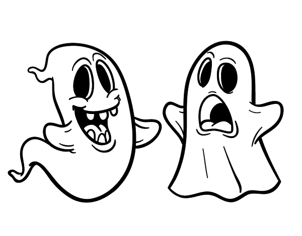 Dibujo de Fantasmas para Colorear   Dibujos.net