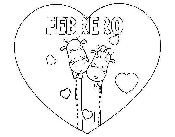 Dibujo De Febrero Para Colorear Dibujosnet