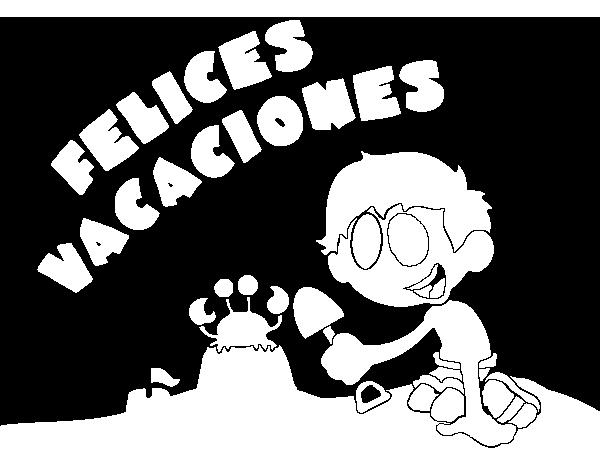 Dibujo De Felices Vacaciones Para Colorear Dibujosnet