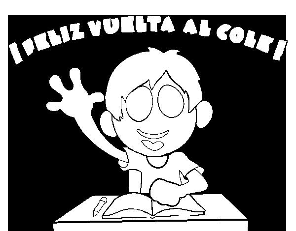 Colorear Vuelta Al Cole 15: Dibujo De Feliz Vuelta Al Cole Para Colorear