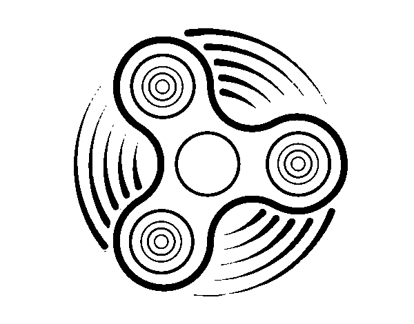 Dibujo de Fidget spinner para Colorear - Dibujos.net
