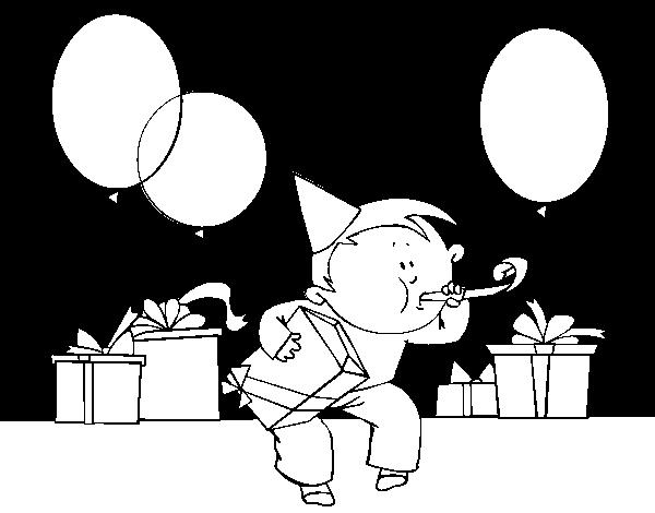 Dibujo de Fiesta de cumpleaños para Colorear - Dibujos.net