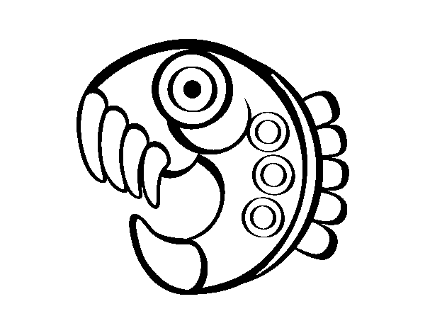 Dibujo de Figura azteca para Colorear - Dibujos.net