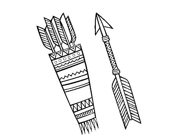 Dibujo De Flechas Indias Para Colorear Dibujosnet