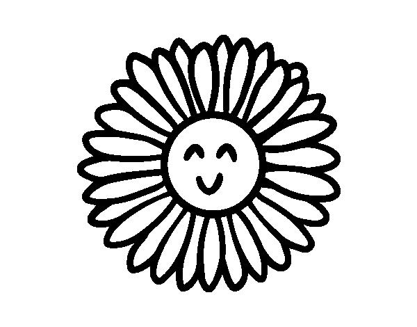 Dibujo de Flor ecológica para Colorear - Dibujos.net