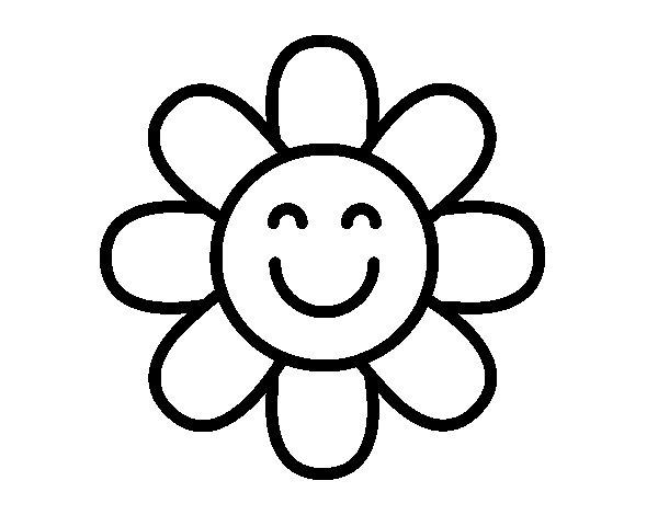 Dibujos Para Colorear De Flora: Dibujo De Flor Sencilla Para Colorear