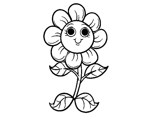 Dibujo De Florecilla Para Colorear Dibujosnet