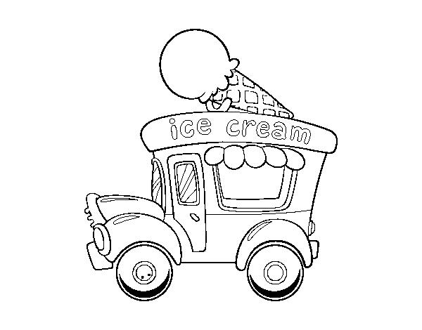 Dibujo de Food truck de helados para Colorear - Dibujos.net