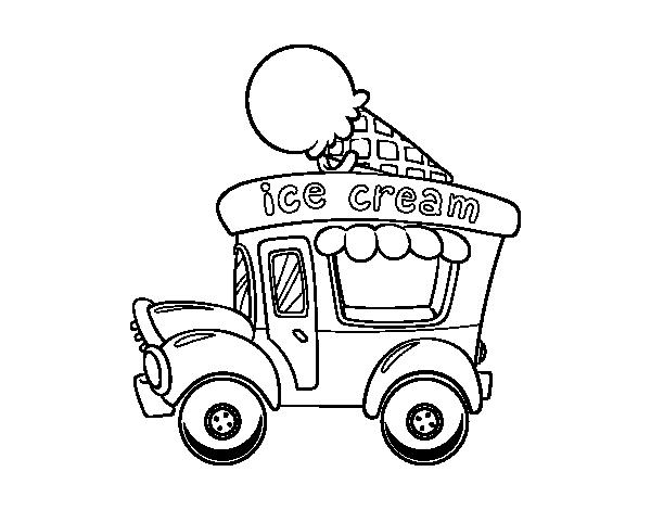 Dibujo De Food Truck De Helados Para Colorear Dibujosnet