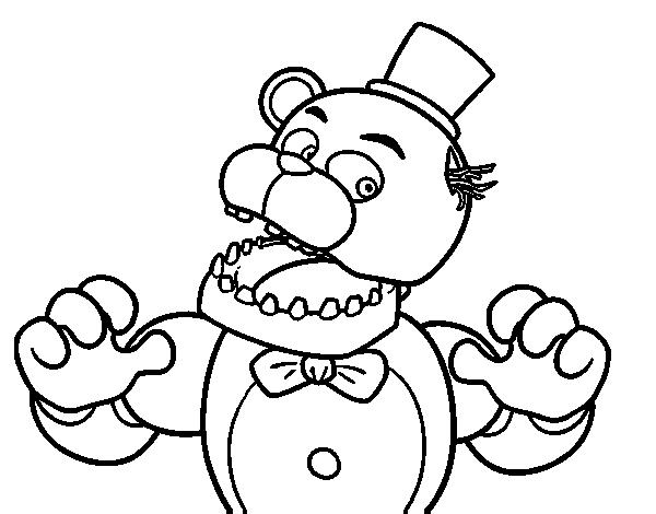 Dibujo De Freddy De Five Nights At Freddys Para Colorear