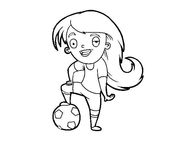 Dibujo De Futbol Femenino Para Colorear Dibujos Net