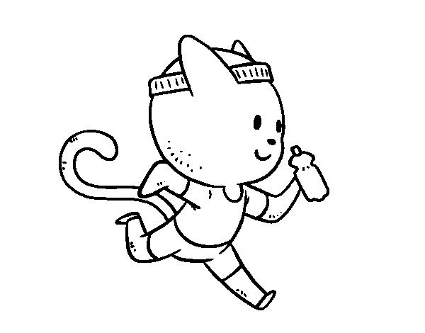 Dibujo De Gato Runner Para Colorear Dibujosnet