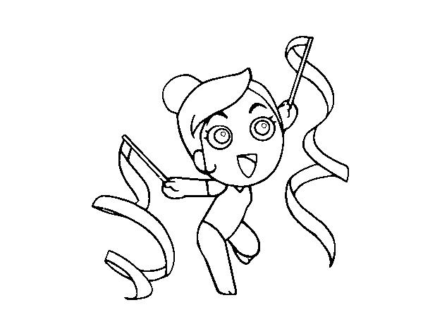 Dibujo de Gimnastica rítmica para Colorear   Dibujos.net
