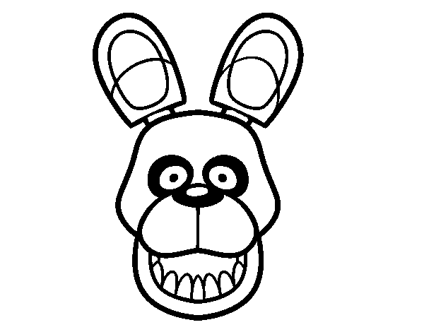 dibujo de golden freddy de five nights at freddy s para colorear