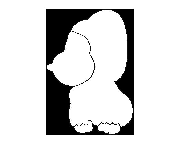 Dibujo de Gorila bebé para Colorear - Dibujos.net