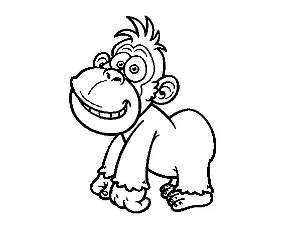 Dibujo de Gorila oriental para Colorear - Dibujos.net