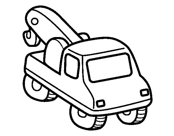 Dibujo de Grúa de vehículos para Colorear - Dibujos.net