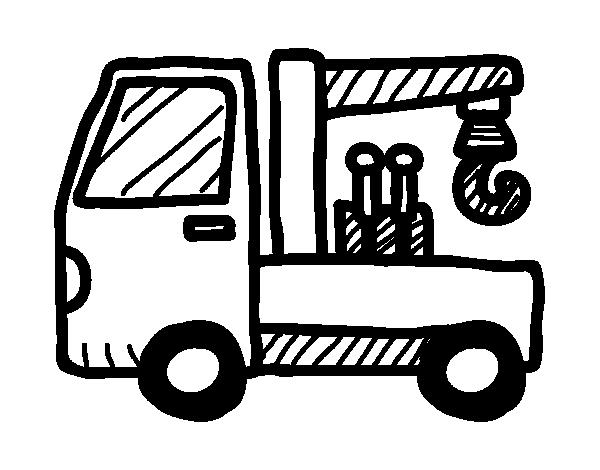 Dibujo De Grúa Remolque Para Colorear Dibujos Net