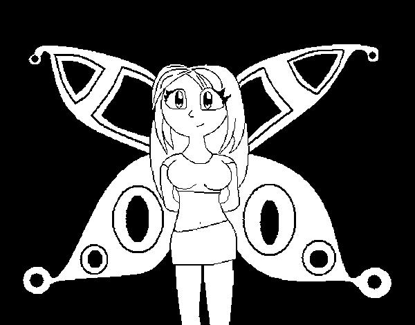 Dibujo de Hada anime para Colorear - Dibujos.net