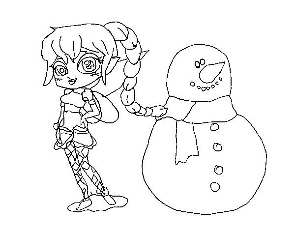 Dibujo de Hada de la nieve para Colorear - Dibujos.net