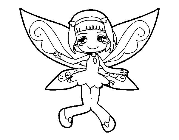Dibujo de Hada voladora para Colorear - Dibujos.net