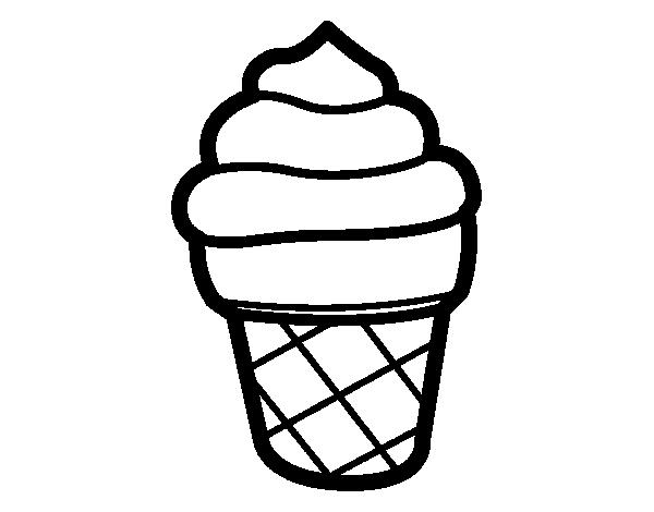 Dibujo de Helado dulce para Colorear - Dibujos.net