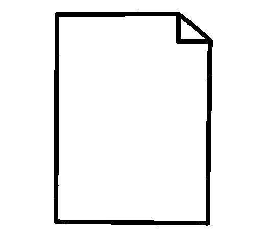 Dibujo de Hoja de papel para Colorear - Dibujos.net